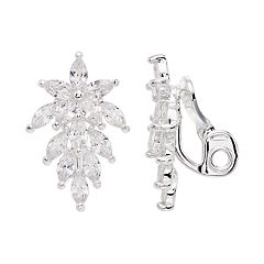 Napier Cubic Zirconia Cluster Clip-On Earrings
