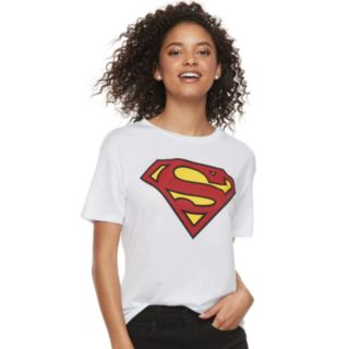 Juniors' Superman Shield Logo Tee