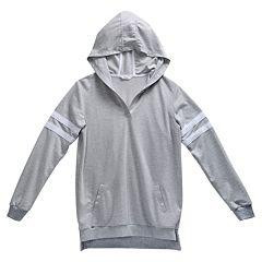 Girls 7-16 Maddie Hooded Varsity Sweatshirt