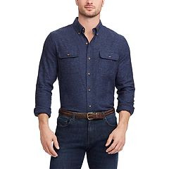 Big & Tall Chaps Regular-Fit Utility Button-Down Shirt