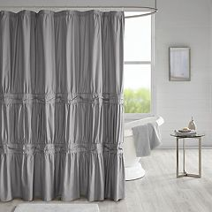 510 Design Denice Solid Ruched Shower Curtain & Liner