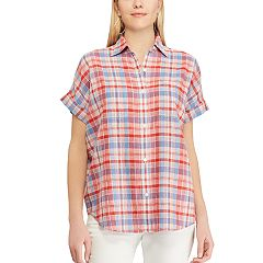 Women's Chaps Plaid Oversized Shirt