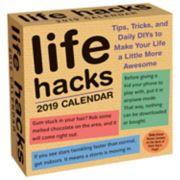 Life Hacks 2019 Daily Desk Calendar