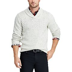 Big & Tall Chaps Cable-Knit Shawl-Collar Sweater