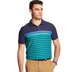 Men's IZOD Advantage Sport Flex Classic-Fit Engineer-Striped Performance Polo