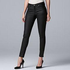 Women's Simply Vera Vera Wang Coated Skinny Jeans