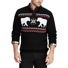 Big & Tall Chaps Regular-Fit Polar Bear Mockneck Sweater