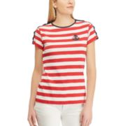 Women's Chaps Striped Anchor Tee