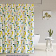 HipStyle Tuki Cotton Printed Shower Curtain