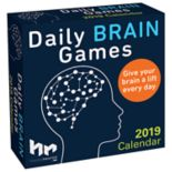 Daily Brain Games 2019 Daily Desk Calendar