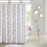 Madison Park Prim Floral Embellished Shower Curtain