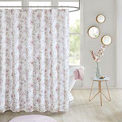 Madison Park Prim Floral Embellished Shower Curtain