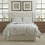 Pointehaven Riviera Embroidered Print Duvet Cover Set
