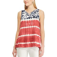 Women's Chaps Patriotic Lace-Up Tank