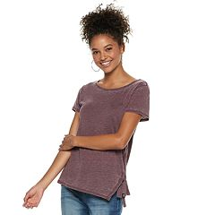 Juniors' Grayson Threads Lace-Up Tee