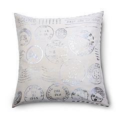 Pointehaven Riviera Foil Print Throw Pillow