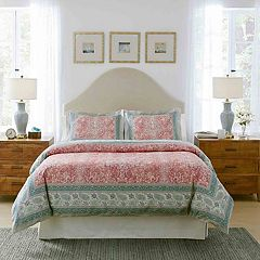 Pointehaven Casablanca Textured Print Duvet Cover Set