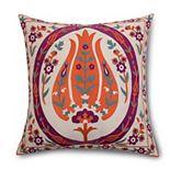 Pointehaven Casablanca Textured Embroidered Throw Pillow