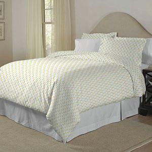 Pointehaven 200 Thread Count Cotton Print Duvet Cover Set