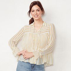 Women's LC Lauren Conrad Striped Swing Top
