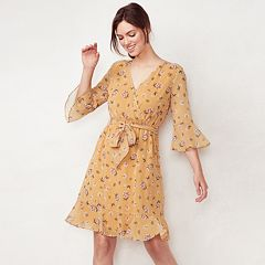 Women's LC Lauren Conrad Floral Faux-Wrap Dress