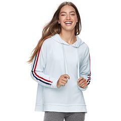 Juniors' Pink Republic Striped Hoodie