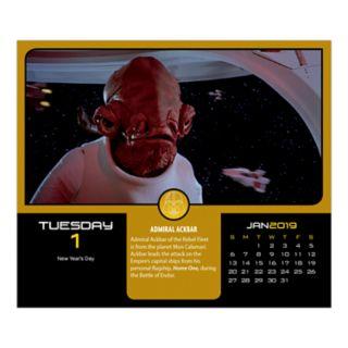 Trends International Star Wars 2019 Daily Calendar