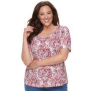Plus Size Croft & Barrow® Essential Elbow Sleeve Tee