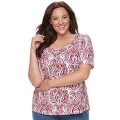 Plus Size Croft & Barrow® Essential Elbow Sleeve Tee