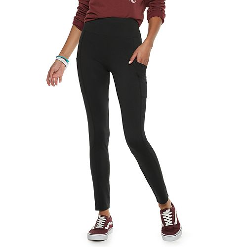 Juniors' Pink Republic High-Waisted Side Pocket Leggings