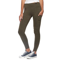 Juniors' Pink Republic High-Waisted Side Pocket Leggings