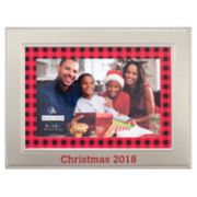 "Malden ""2018"" 4"" x 6"" Plaid Christmas Frame"