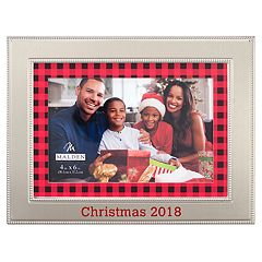 Malden '2018' 4' x 6' Plaid Christmas Frame