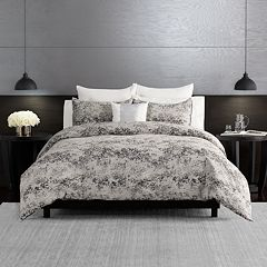 Simply Vera Vera Wang Midnight Chenille 3-piece Duvet Cover Set