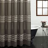 Excell  Piper Fabric Shower Curtain