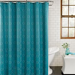 Excell  Skylar Fabric Shower Curtain