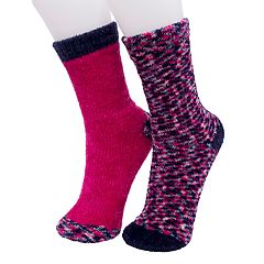 Girls 4-16 Cuddl Duds 2-pack Chenille Crew Socks