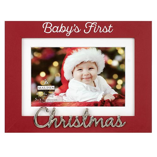 Malden Babys First 4 X 6 Christmas Frame
