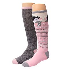 Girls 4-16 Cuddl Duds 2-pack Knee-High Critter Socks