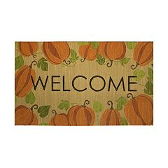 Mohawk® Home Happy Fall Pumpkins ''Welcome'' Rubber Doormat - 18'' x 30''