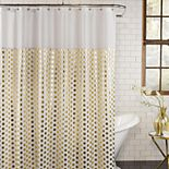Excell  Goldie Fabric Shower Curtain