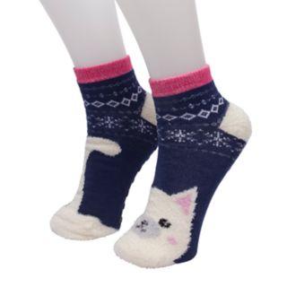 Girls 4-16 Cuddl Duds Critter Slipper Socks