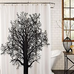 Excell  Tree Silhouette Shower Curtain