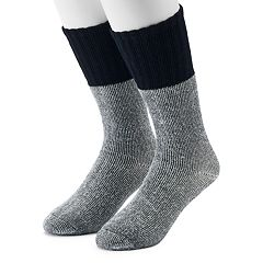 Men's Croft & Barrow® 2-Pack Two Tone Crew Socks