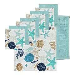 The Big One® Seashell Print Dishcloth 10-pack