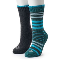 Women's Columbia 2-Pack Stripe Crew Socks