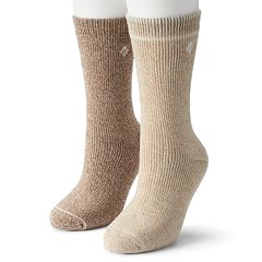 Columbia 2-pk. Fleece-Lined Wool Crew Socks - Women