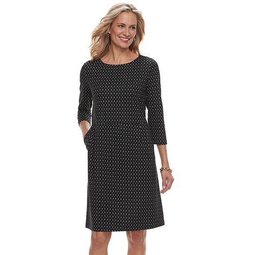 Women's Croft & Barrow® Print Ponte Sheath Dress