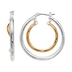 Napier Layered Hoop Earrings