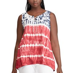 Plus Size Chaps Patriotic Tank Top